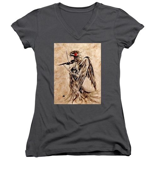 The Sound Of An Angel. Women's V-Neck T-Shirt