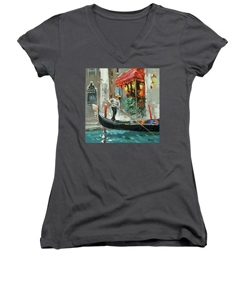The Sounds Of A Barcarolle Women's V-Neck (Athletic Fit)