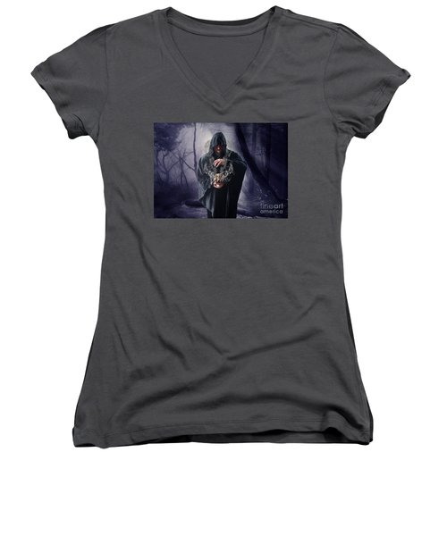 The Sounds Of Silence Women's V-Neck (Athletic Fit)