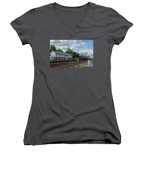The Spa Express Departing Scarborough Women's V-Neck T-Shirt