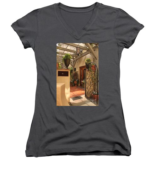 The Spa Women's V-Neck T-Shirt (Junior Cut) by James Eddy