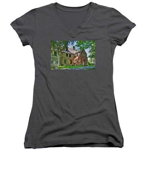 The Spencer-peirce-little House In Spring Women's V-Neck