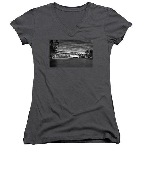 The Spill Women's V-Neck T-Shirt (Junior Cut) by Mark Lucey