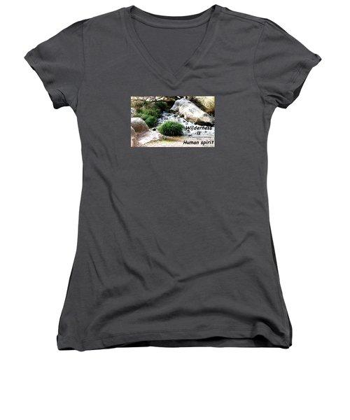 The Spirit Of Water Women's V-Neck T-Shirt