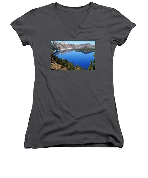 The Splendor Of Crater Lake Women's V-Neck (Athletic Fit)
