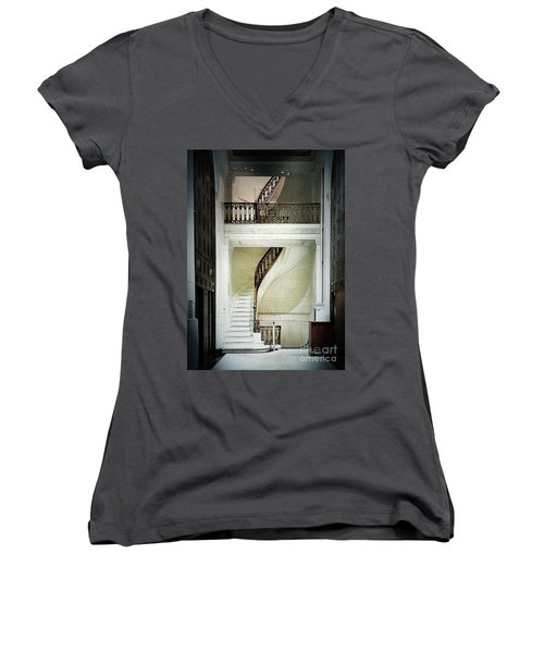 The Staircase Women's V-Neck