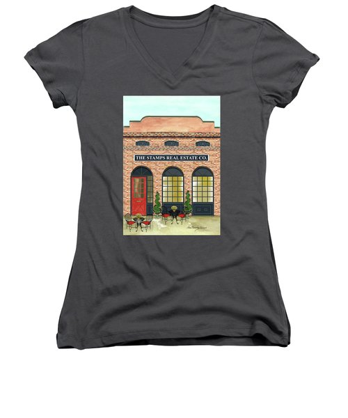 The Stamps Real Estate Co. Women's V-Neck (Athletic Fit)