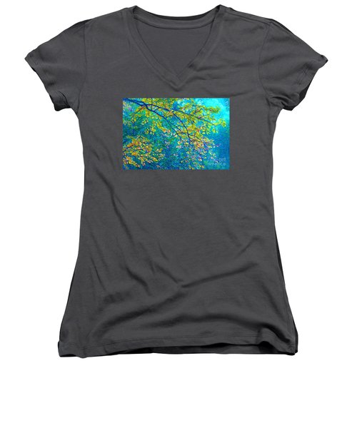 The Star Of The Forest - 773 Women's V-Neck T-Shirt (Junior Cut) by Variance Collections