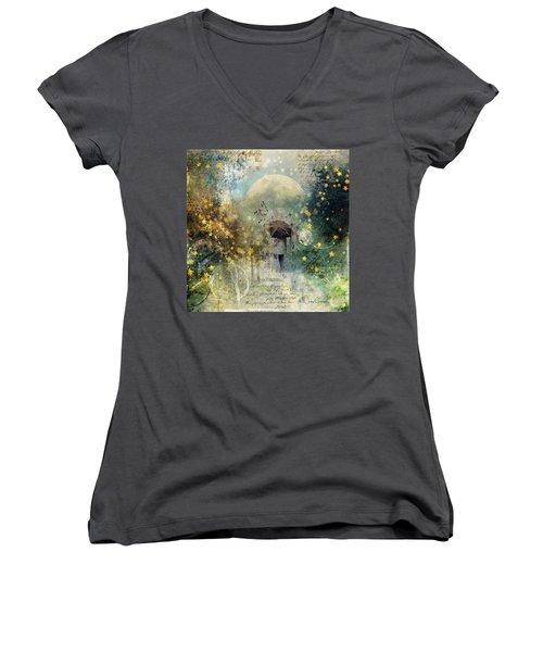 The Stars Fall Down Women's V-Neck T-Shirt