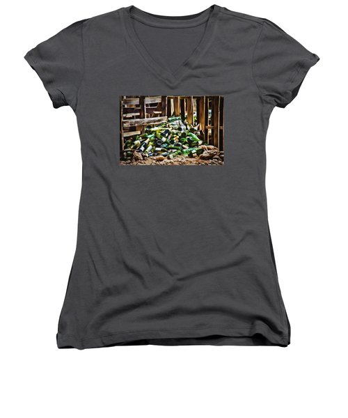 The Stash Women's V-Neck T-Shirt (Junior Cut) by Lana Trussell