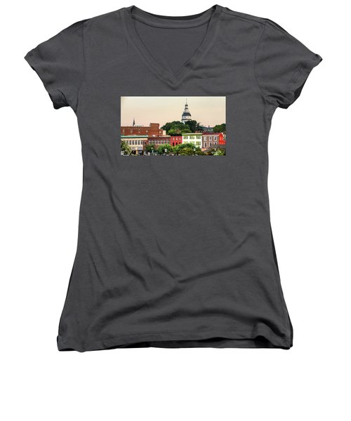 The State Capitol Women's V-Neck T-Shirt