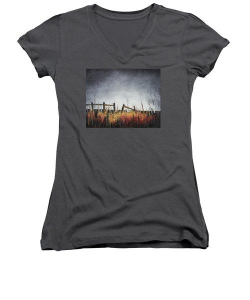 The Stories Were Left Untold Women's V-Neck T-Shirt (Junior Cut) by Carolyn Doe