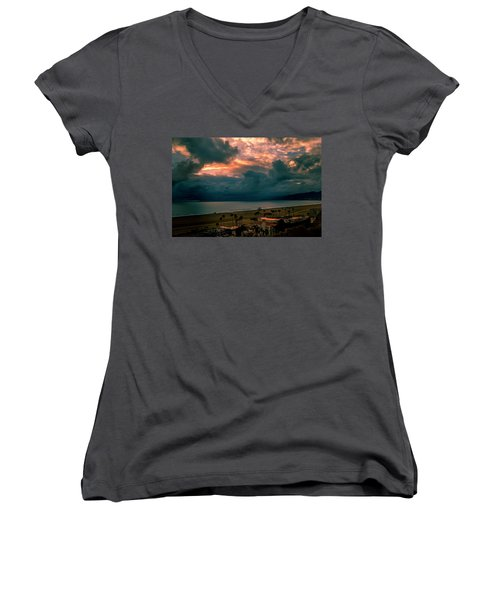 The Storm Moves On Women's V-Neck (Athletic Fit)