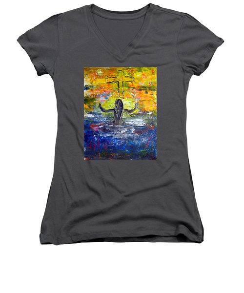 The Strength Of The Survivor 4 Women's V-Neck (Athletic Fit)