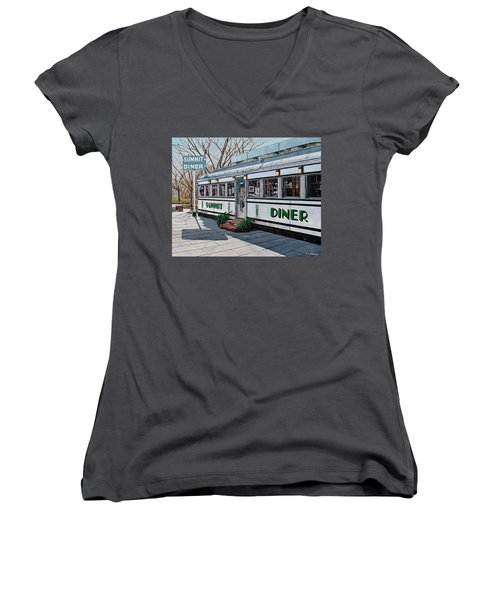 The Summit Diner Women's V-Neck (Athletic Fit)