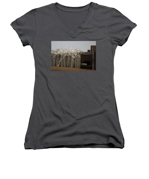 The Tales We Weave In Sepia Photograph Women's V-Neck