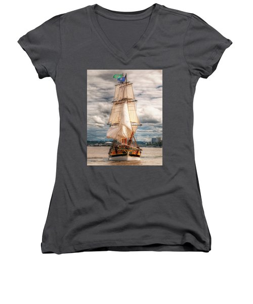 The Tall Ship The Lady Washington Women's V-Neck (Athletic Fit)