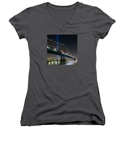 Women's V-Neck T-Shirt (Junior Cut) featuring the photograph The Test  by Anthony Fields