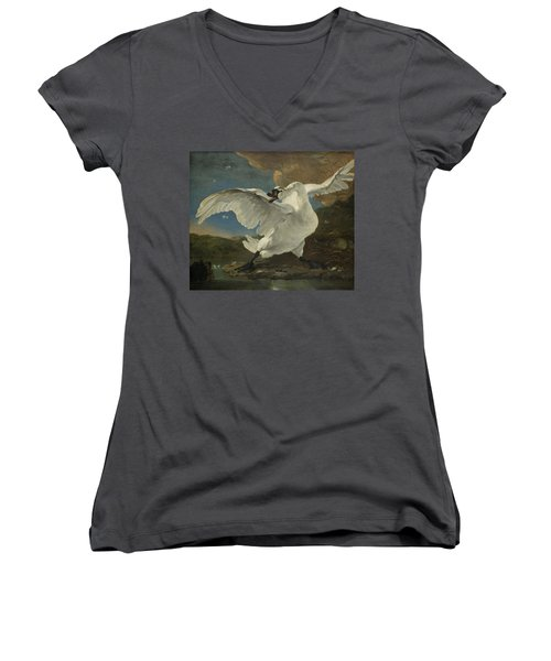 The Threatened Swan, 1650 Women's V-Neck (Athletic Fit)