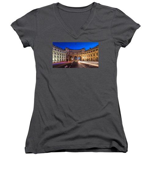 The Three Gates Women's V-Neck T-Shirt (Junior Cut) by Giuseppe Torre