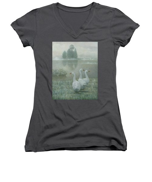The Three Geese Women's V-Neck (Athletic Fit)