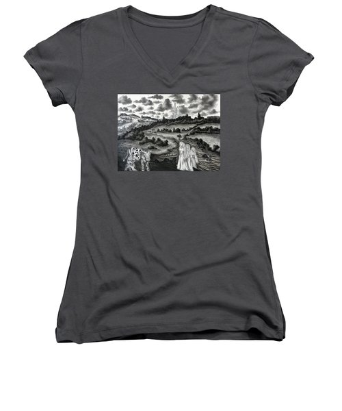 The Three Ladies  Women's V-Neck (Athletic Fit)