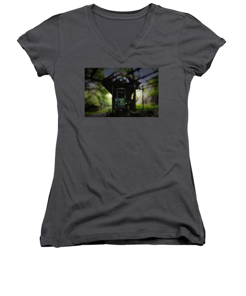 The Tram Leaves The Station... Women's V-Neck