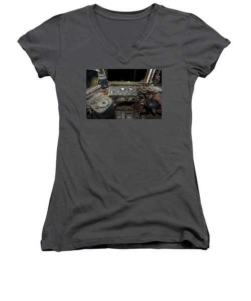 The Tram Leaves The Station... Instruments Women's V-Neck