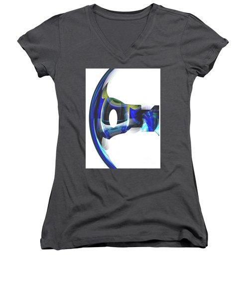 The Transparency Bow Women's V-Neck T-Shirt (Junior Cut) by Thibault Toussaint