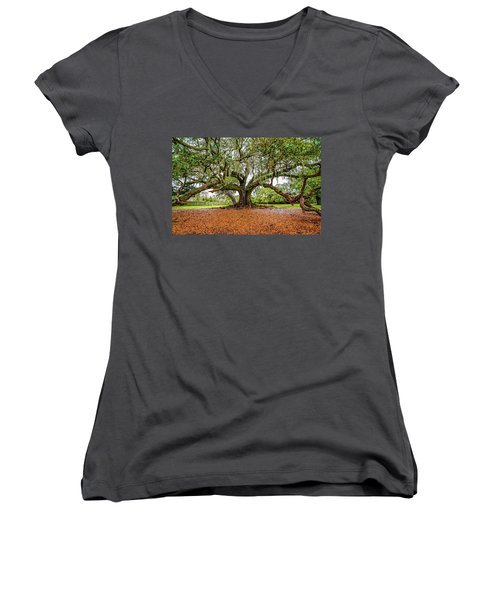 The Tree Of Life Women's V-Neck (Athletic Fit)