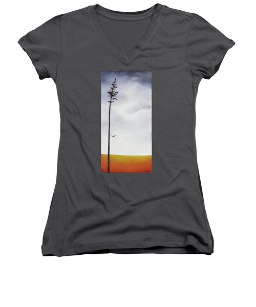 The Trees Are So Tall Here  II     Women's V-Neck T-Shirt (Junior Cut) by Carolyn Doe