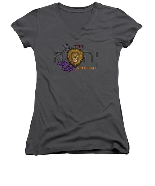 The Tribe Of Judah Hebrew Women's V-Neck