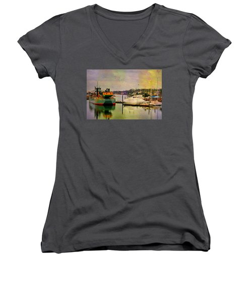 The Tug Boat Women's V-Neck (Athletic Fit)