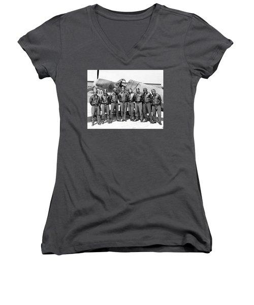 The Tuskegee Airmen Circa 1943 Women's V-Neck