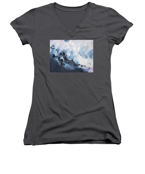 The Universe In Part 1 Women's V-Neck (Athletic Fit)