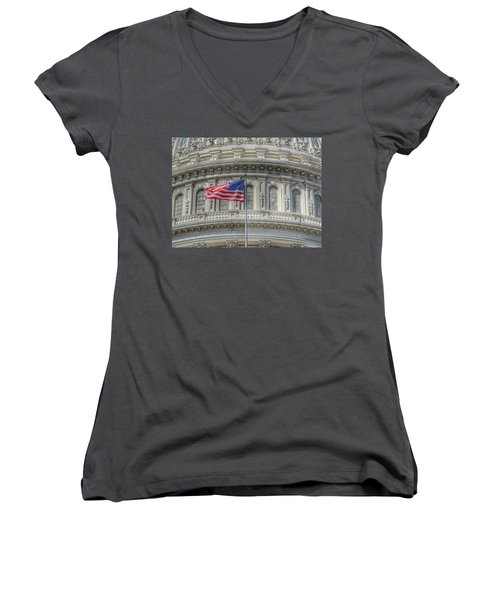 The Us Capitol Building - Washington D.c. Women's V-Neck