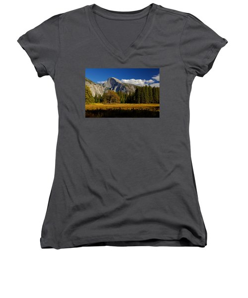 Women's V-Neck T-Shirt (Junior Cut) featuring the photograph The Valley by Evgeny Vasenev
