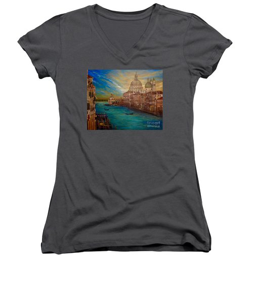 The Venice Of My Recollection With Digital Enhancement Women's V-Neck (Athletic Fit)