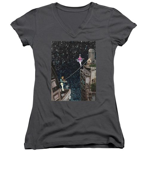 The Violinist And The Dancer Women's V-Neck (Athletic Fit)