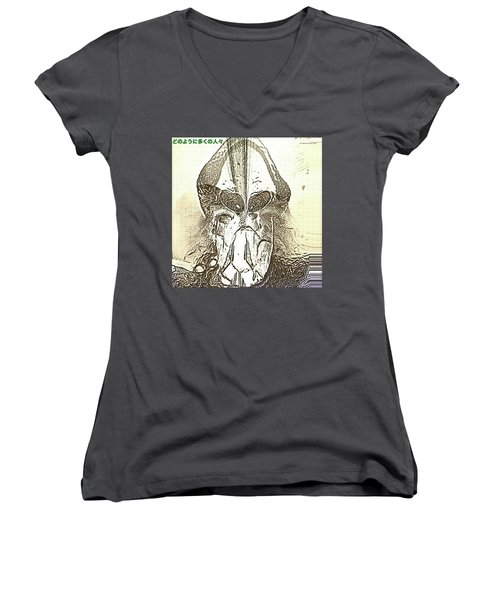 The Visionary Women's V-Neck T-Shirt (Junior Cut) by Tobeimean Peter