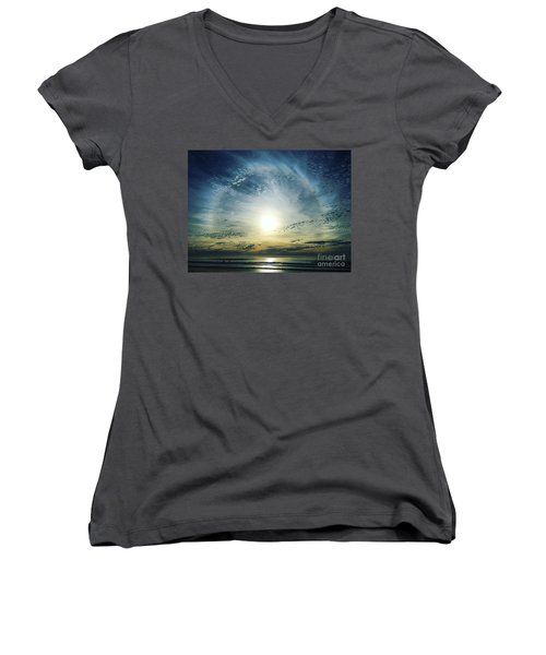 The Lord Is Over The Waters... Women's V-Neck T-Shirt