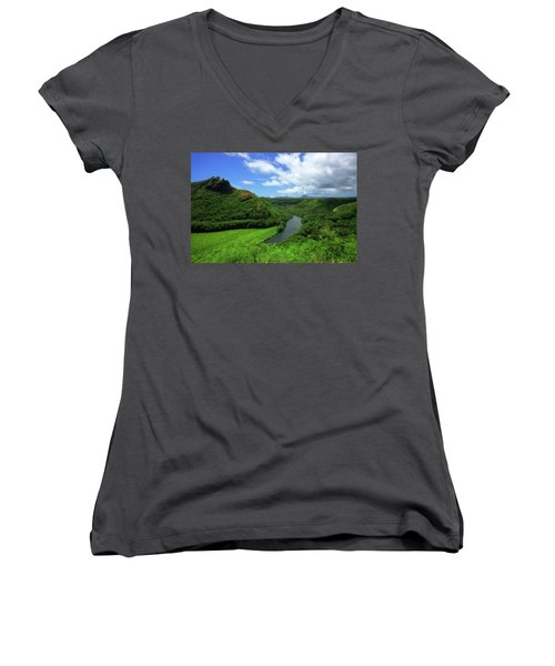The Wailua River Women's V-Neck