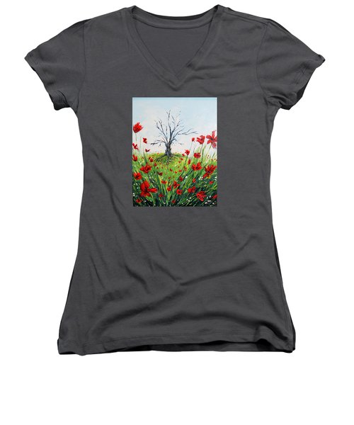 The Warrior Women's V-Neck T-Shirt (Junior Cut) by Meaghan Troup