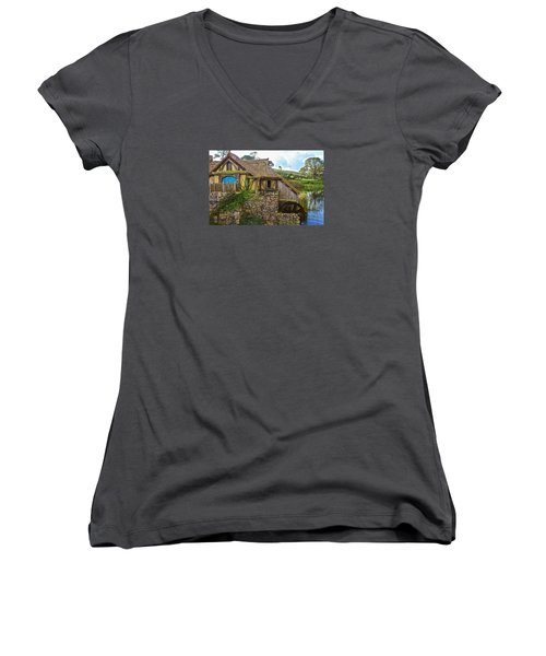 The Watermill, Bag End, The Shire Women's V-Neck