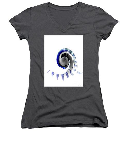 The Wave Women's V-Neck T-Shirt (Junior Cut) by Thibault Toussaint
