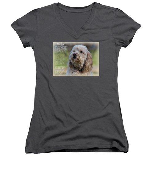 The Way Golden Doodle Women's V-Neck T-Shirt