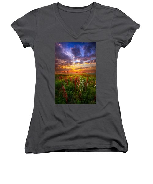 The Whispered Voice Within Women's V-Neck