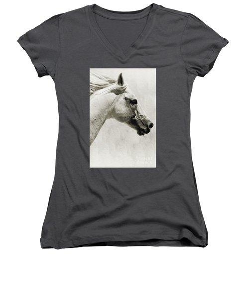 The White Horse IIi - Art Print Women's V-Neck T-Shirt
