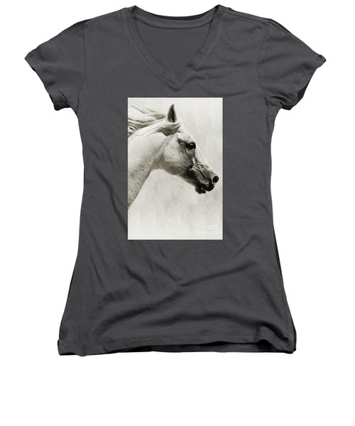 The White Horse IIi - Art Print Women's V-Neck (Athletic Fit)