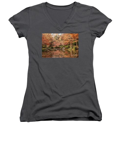 The White Ladder Women's V-Neck T-Shirt (Junior Cut) by Iris Greenwell